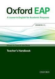 Oxford EAP Advanced-C1 Teacher's Book, DVD and Audio CD Pack