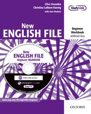 New English File Beginner Workbook with MultiROM Pack