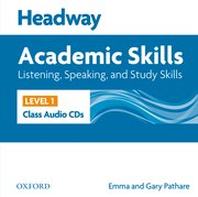 Headway Academic Skills 1 Listening, Speaking, and Study Skills Class Audio CDs (2)