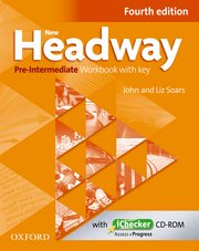 New Headway Pre-Intermediate Fourth Edition Workbook + iChecker with Key