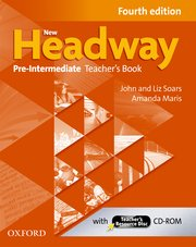 New Headway Pre-Intermediate Fourth Edition Teacher's Book + Teacher's Resource Disc