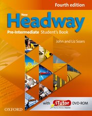 New Headway Pre-Intermediate Fourth Edition Student's Book and iTutor Pack
