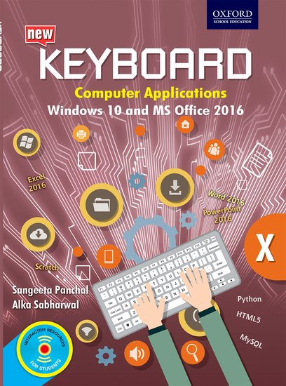Keyboard Windows 10 and MS Office 2016 Class 10